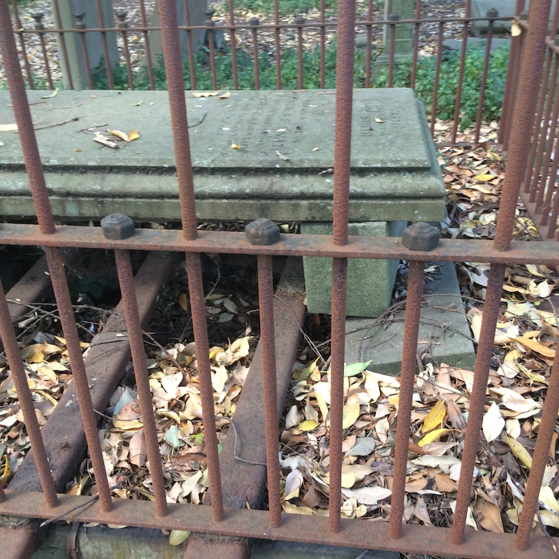 Caged grave