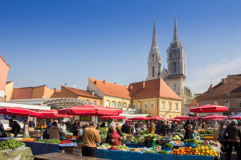 Dolac Marketplace in Zagreb